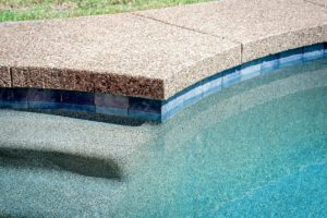 pool finish using aggregate